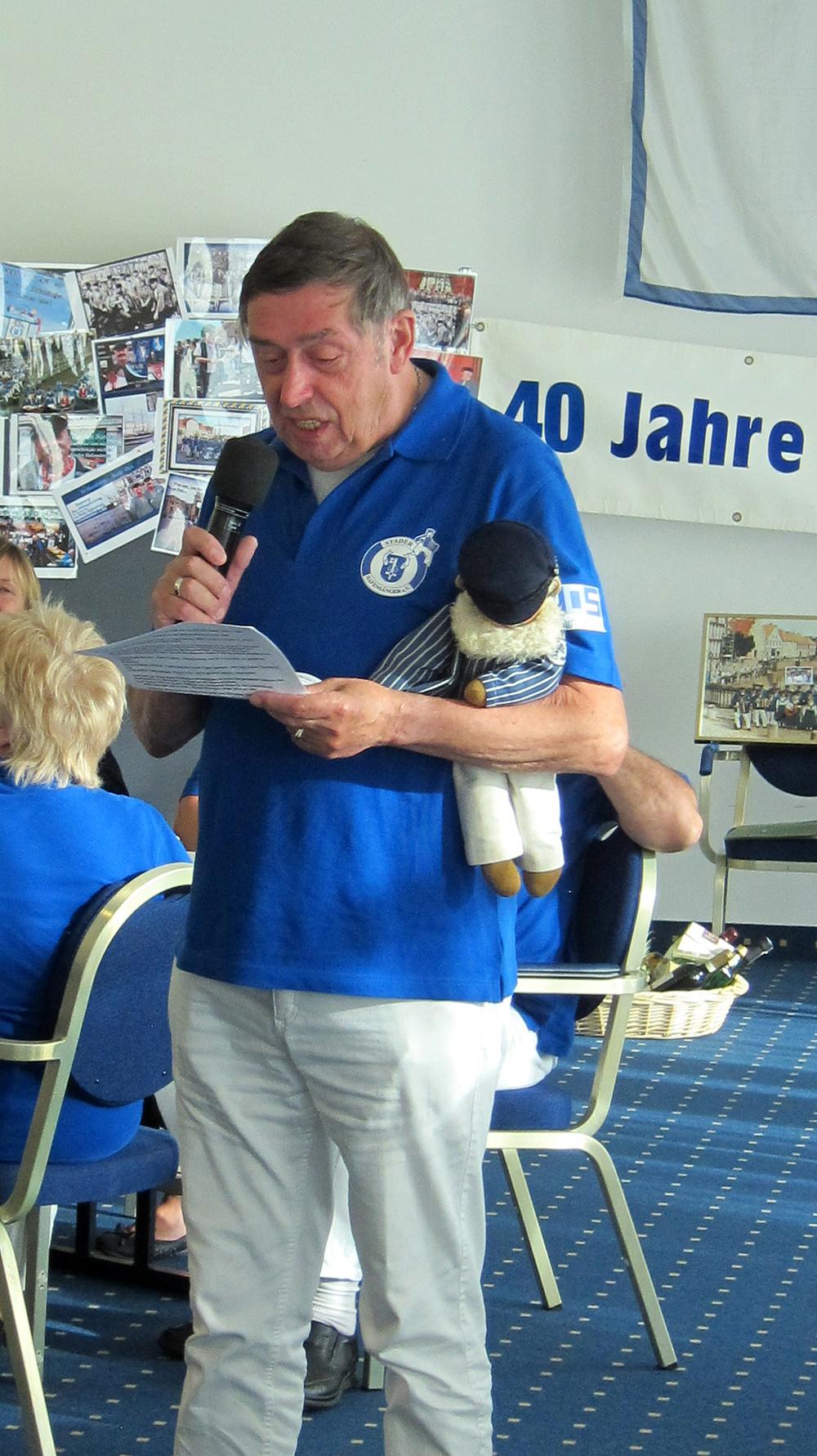 Eine launige Rede über die Gründung der Stader Hafensänger....