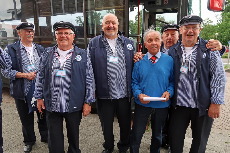 """Unser Busfahrer """"Güs"""" hat uns von Zwolle nach Kampen gefahren"""