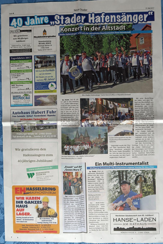Neue Stader Wochenblatt - 31.05.2017