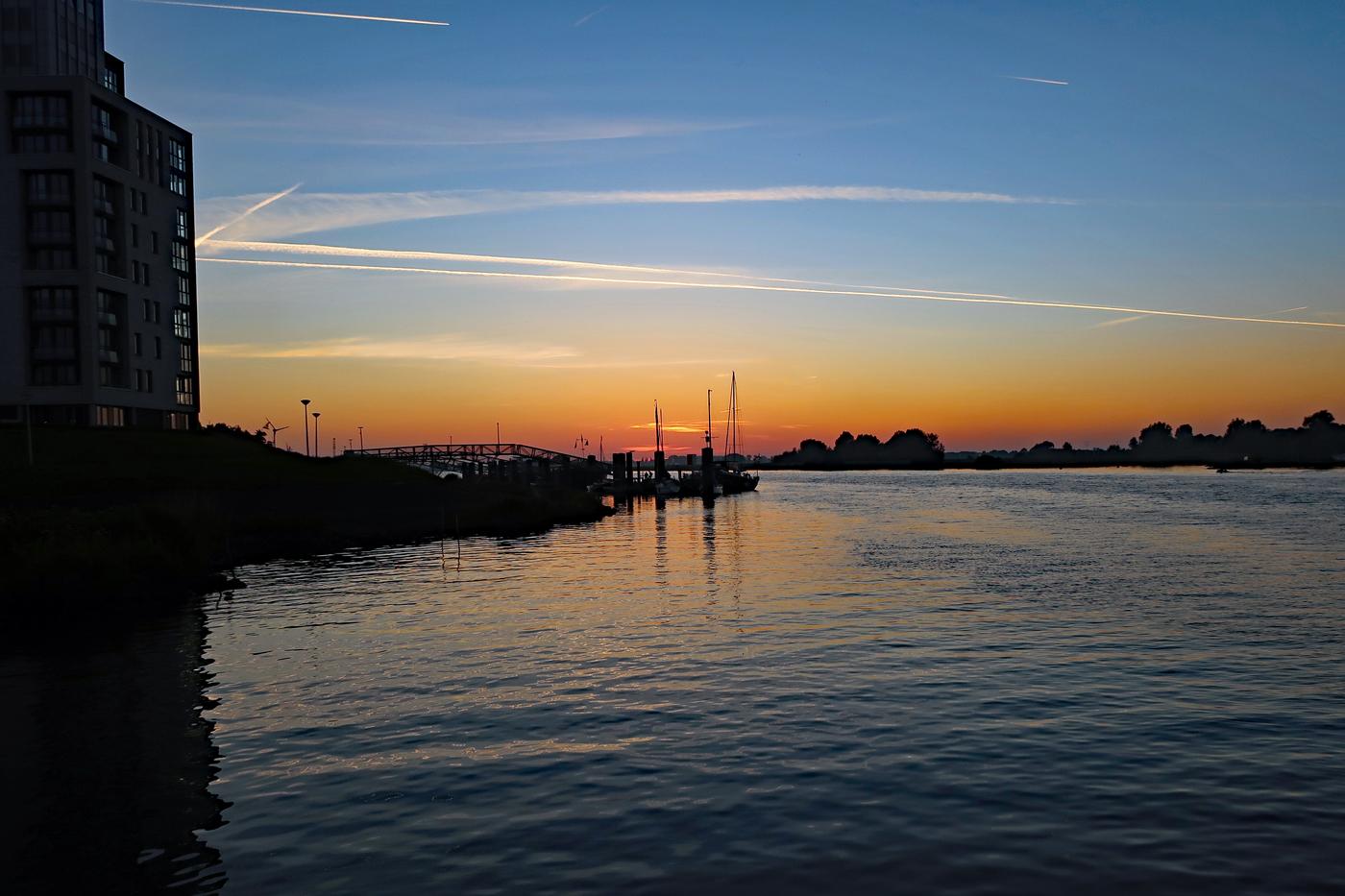 Sonnenuntergang - Ende - weiter Bilder siehe Hansetage Kampen!