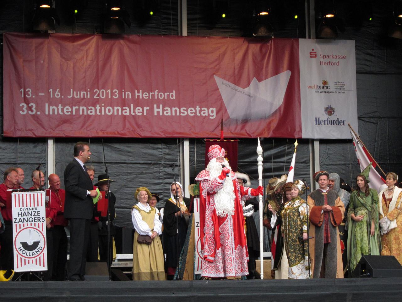 Eröffnung der Hansetage - Bühne Rathausplatz -