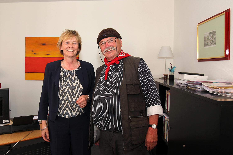 29.05.2017 - Bürgermeisterin Silvia Nieber und Hans Potratz