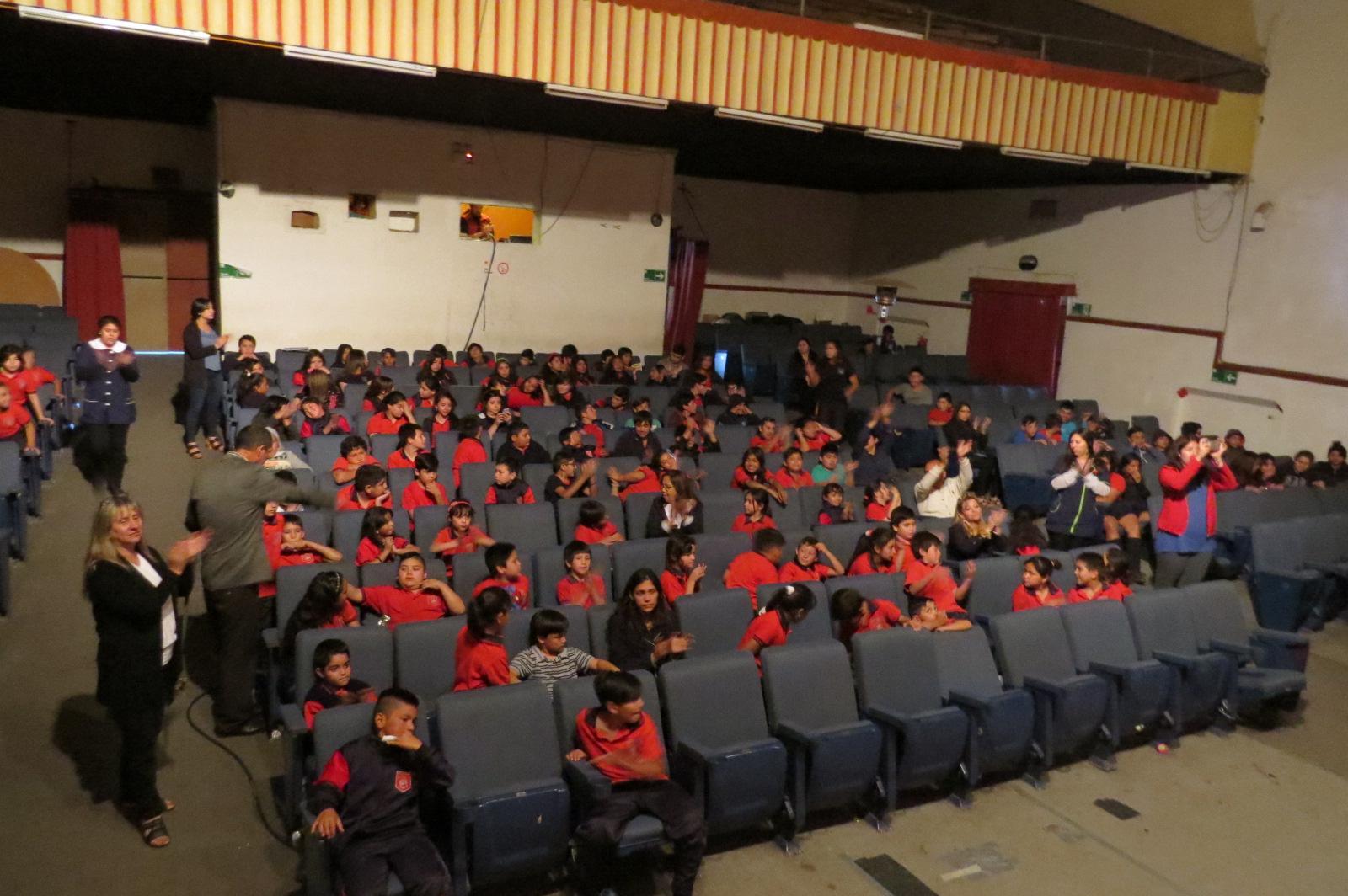 Alumnos del colegio Talacanta de 1º a 8º básico