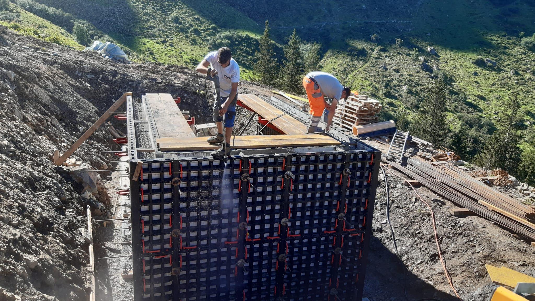 Betonarbeit Güllengrube