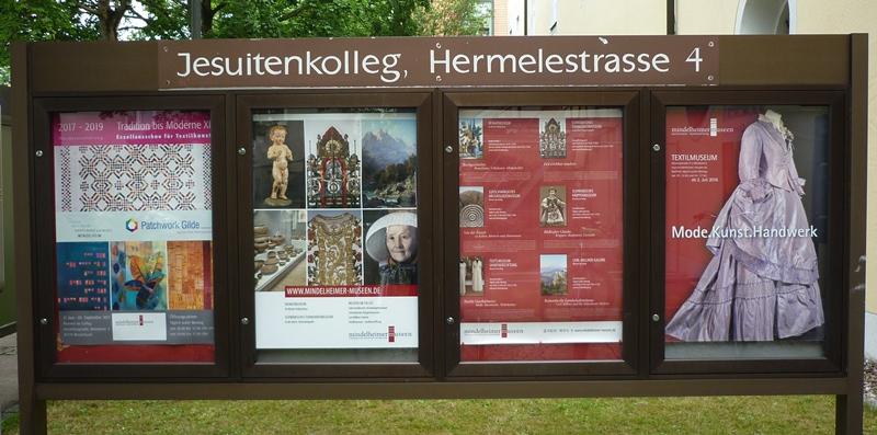 Schautafel vor dem Museum in Mindelheim