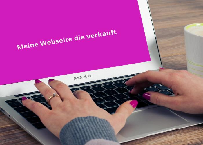 Eine Webseite die verkauft