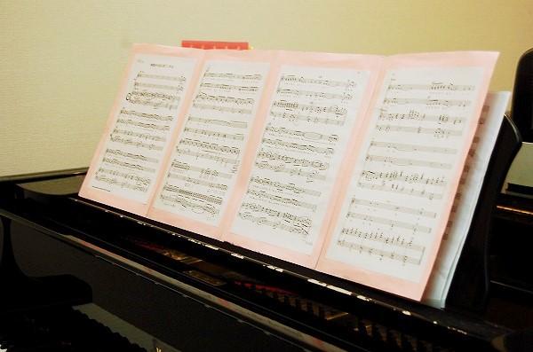 伴奏者に選ばれたSちゃん。勿論、自力で譜読み完了。あとは伴奏ならではの曲想をつけるのみ♪