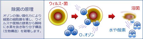 オゾンによる除菌の原理