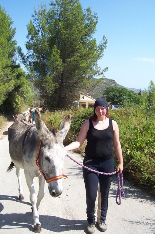 Bianca und ihr Esel Clara