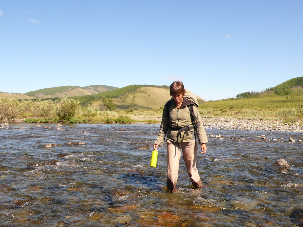 Traverssée de la rivière à pied