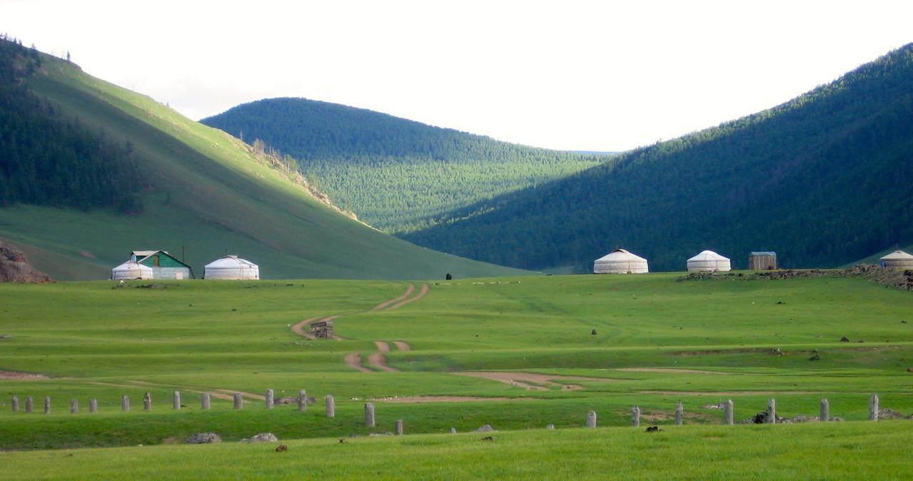 Les familles mongoles sous yourte de l'Orkhon