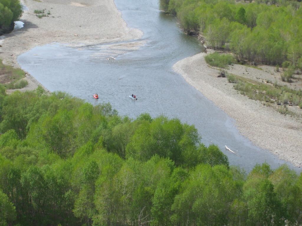 En descente sur la rivière