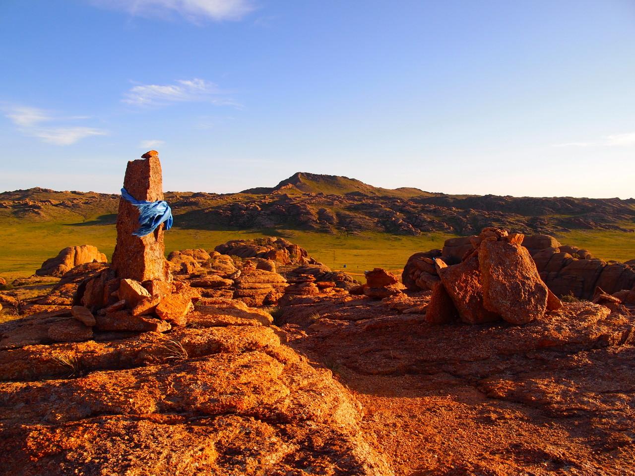 Les roches du désert de Gobi