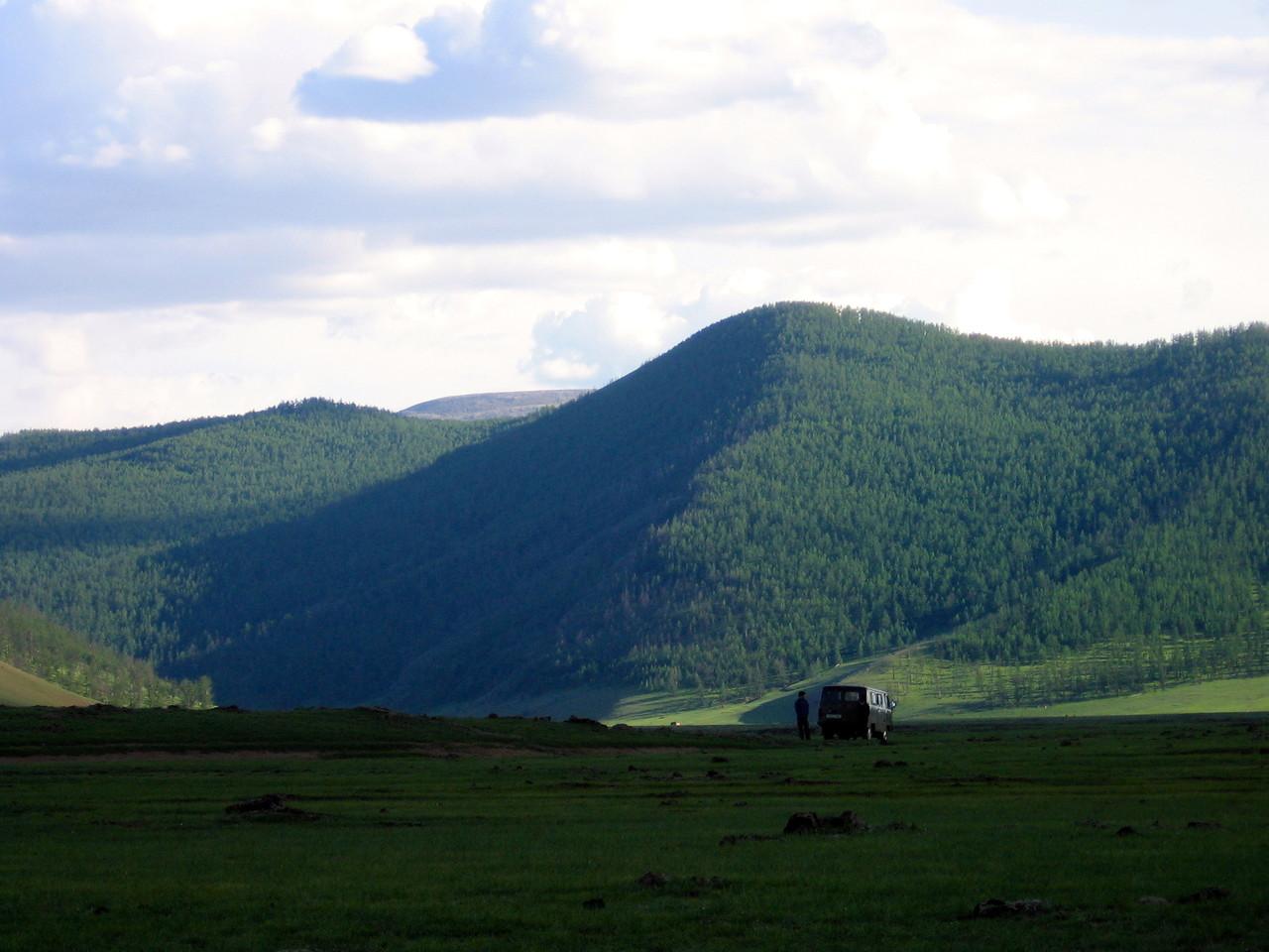 Les monts Khangai et de la vallée d'Orkhon
