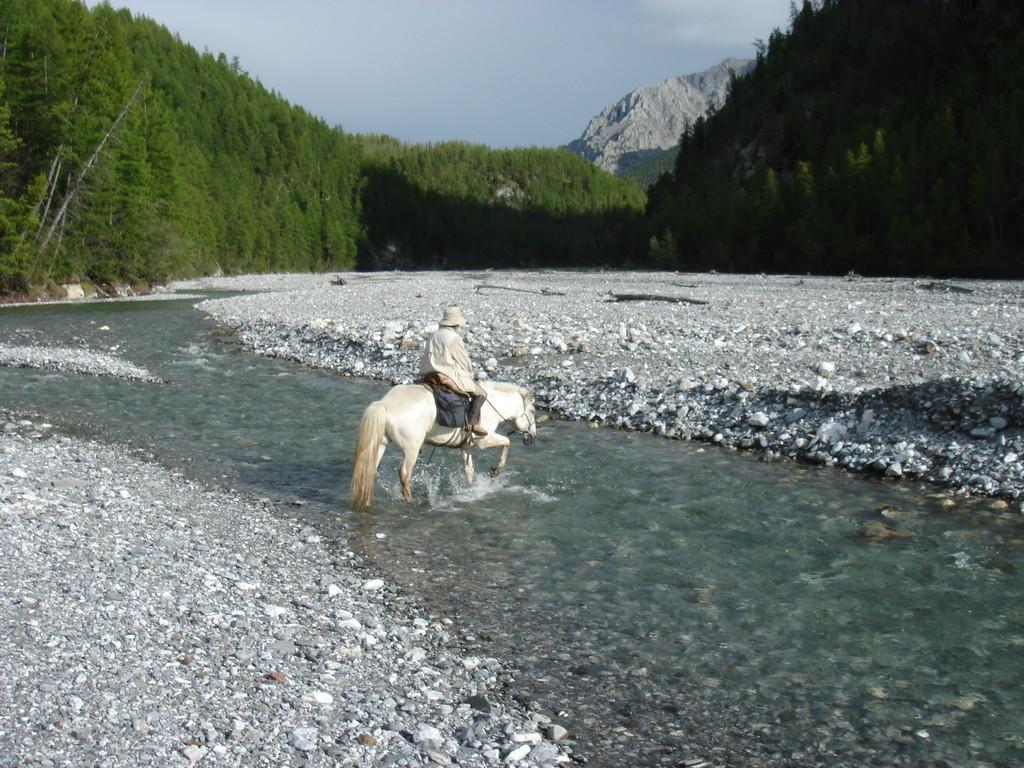 Traverssée d'une rivière