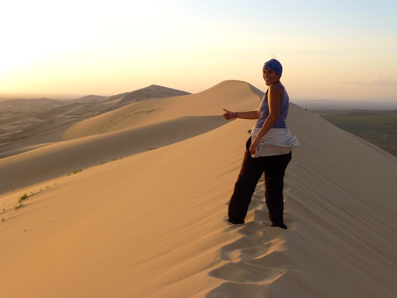 Sur les dunes de Khongoryn Els