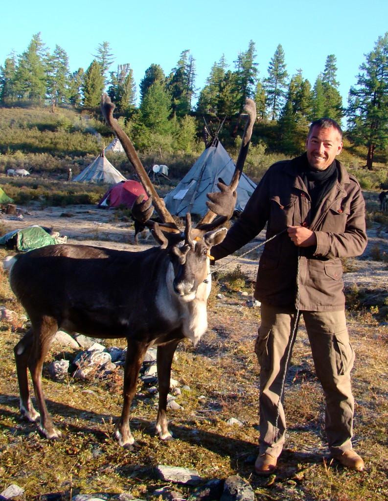 Avec les rennes Tsaatan en Mongolie