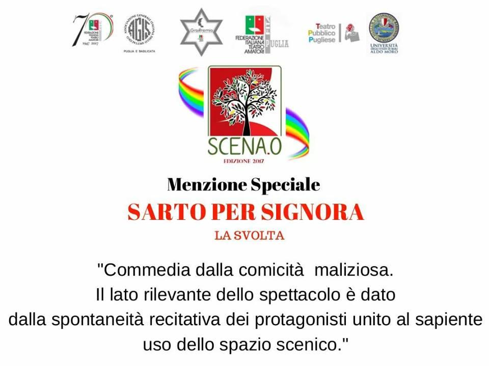 Menzione Speciale SCENA.0 Edizione 2017