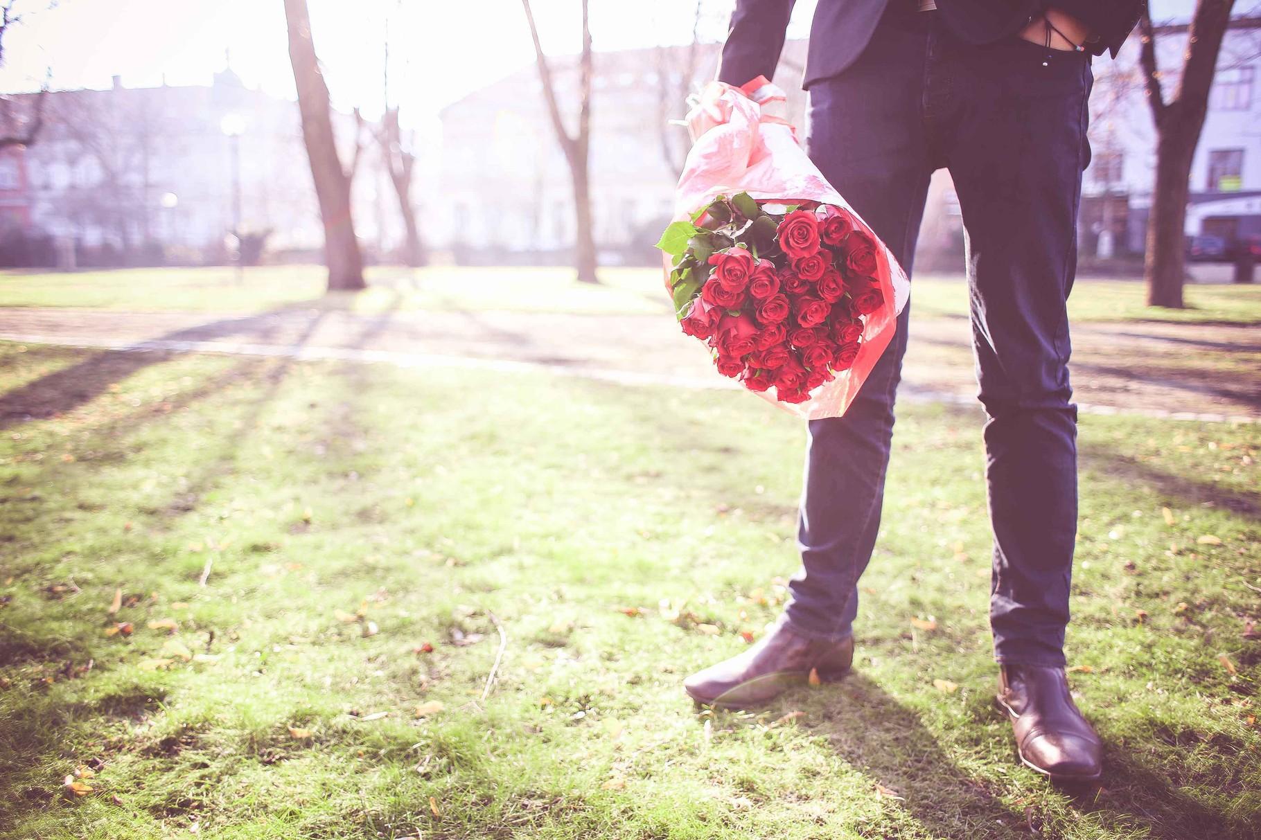 Blumen - Hochzeitsanzug