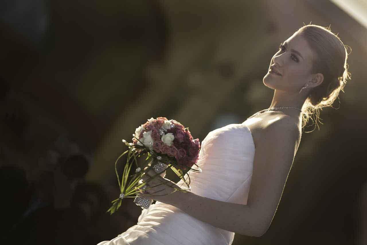 Brautstrauß - Hochzeitskleid