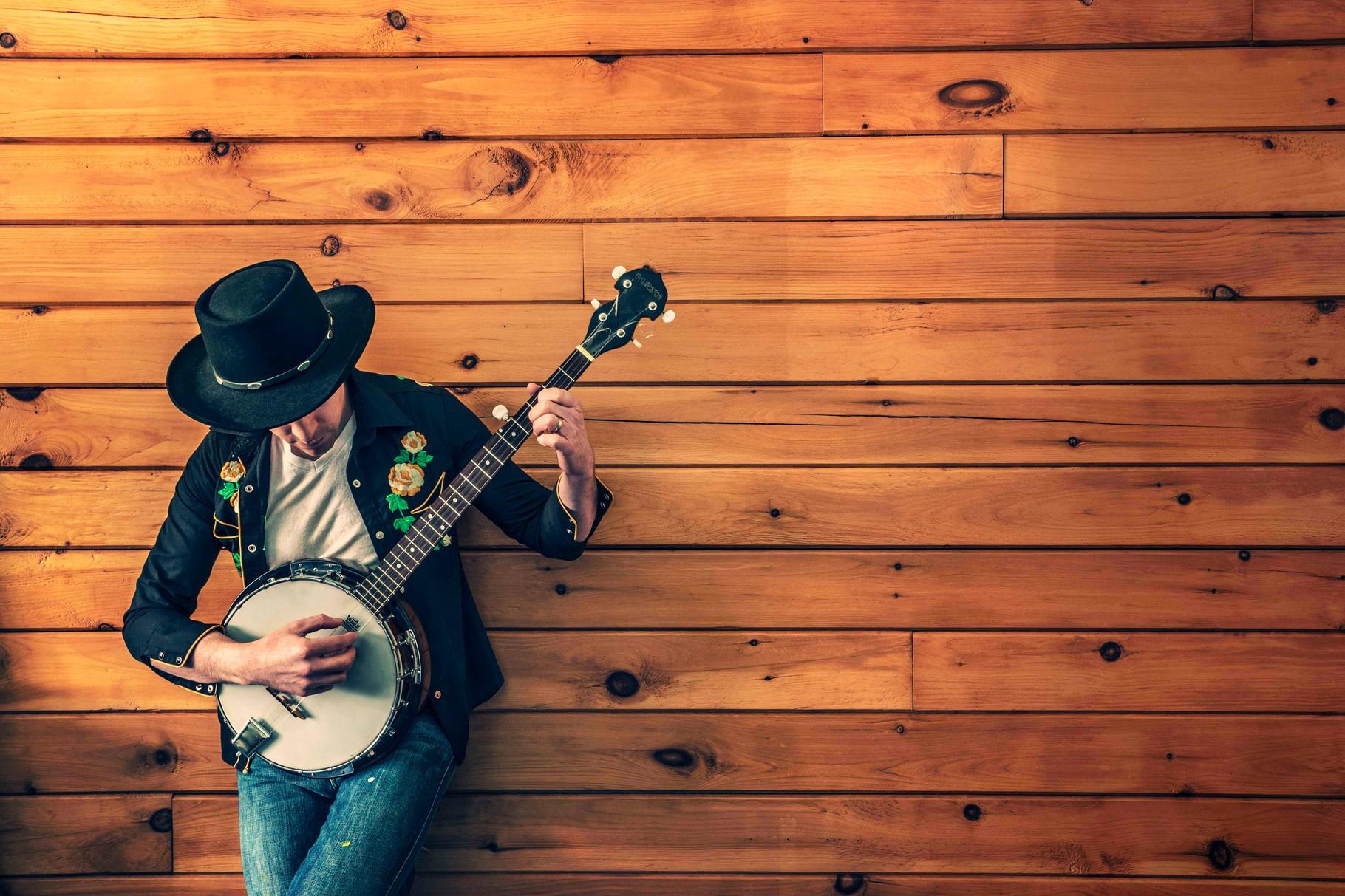 Gitarre Musiker Wand Hochzeitsmusik