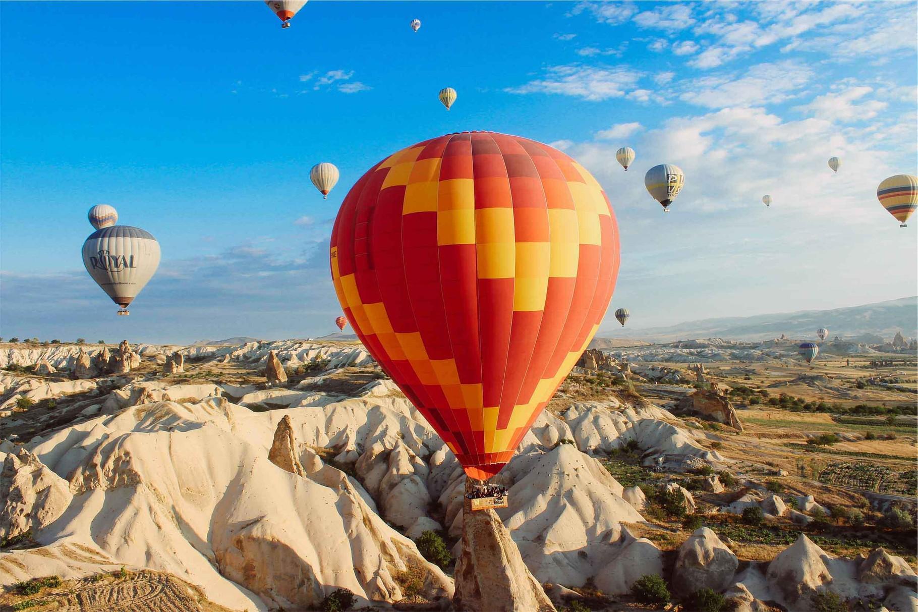 Heißluftballons - heiraten im Ausland