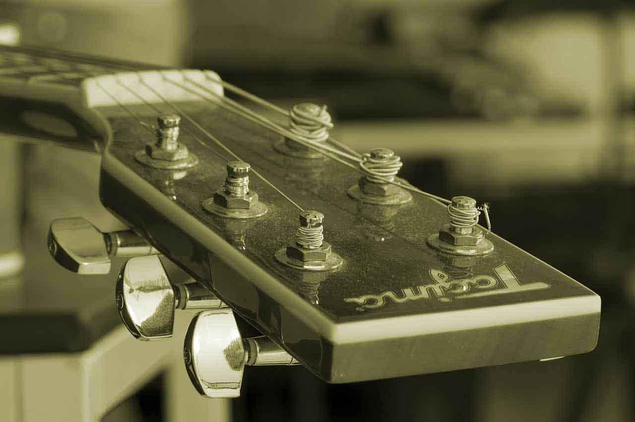 Detail von Gitarre Hochzeitsmusik
