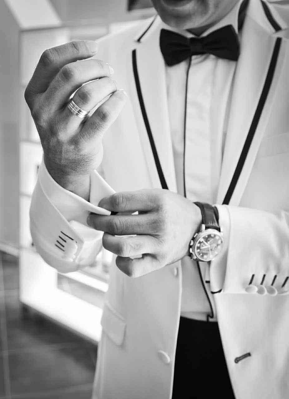 Weisses Sakko - Hochzeitsanzug