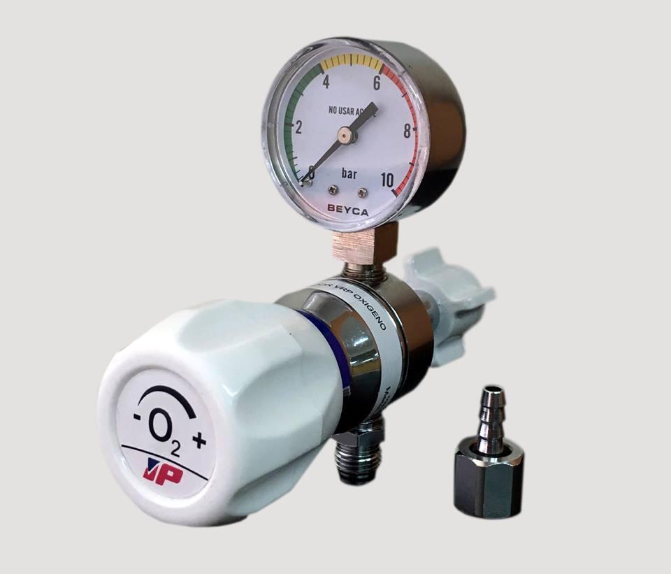 Regulador de oxigeno para panel DISS.