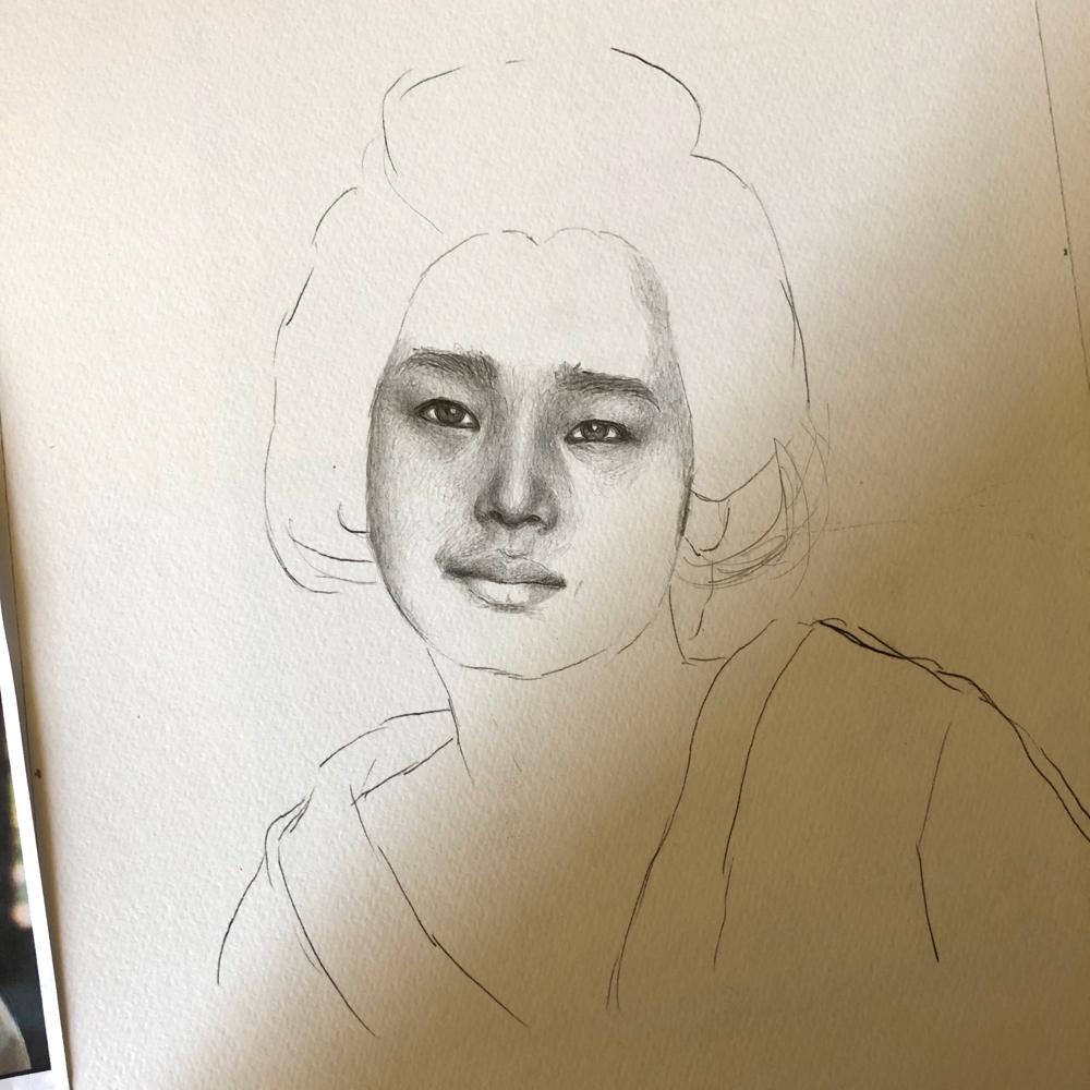 裕子さんを描く