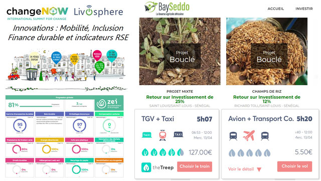 ChangeNow - Innovations Mobilité, Santé, Inclusion, Finance Durable et Indicateurs RSE/ESG