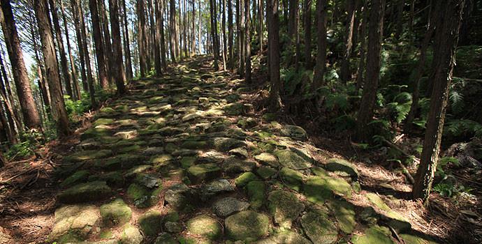 美しい石畳が残る古道