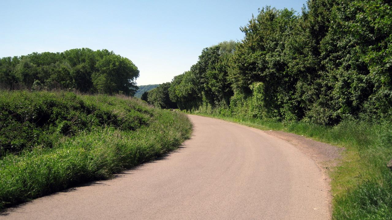 Fahrradweg rechts des Saar Richtung Dillingen