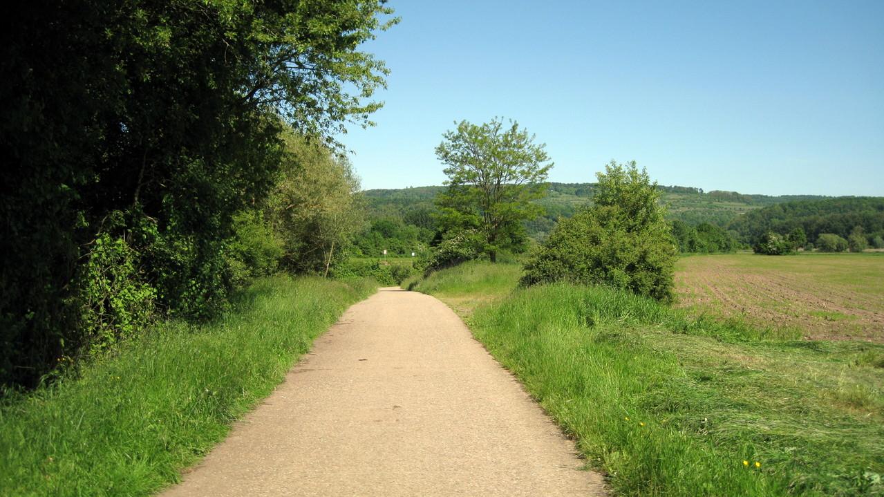 Fahrradwege rechts der Saar Richtung Merzig