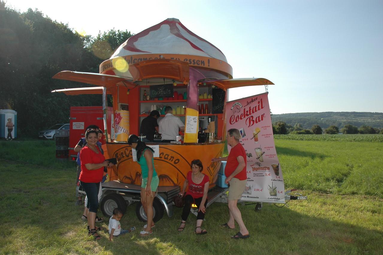 Leckeres Eis und Cocktails aus dem Eiscafe Vulcano in Dillingen erfreute die Besucher