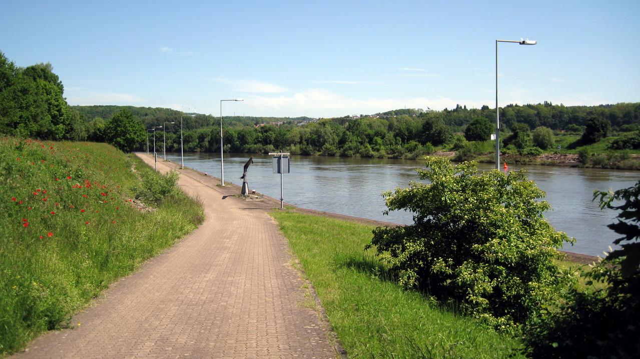 Fahrradwege links der Saar Richtung Merzig
