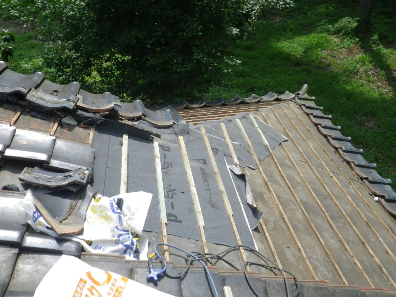 雨漏れ修理!下葺き材増し張り施工を実施! in矢板市