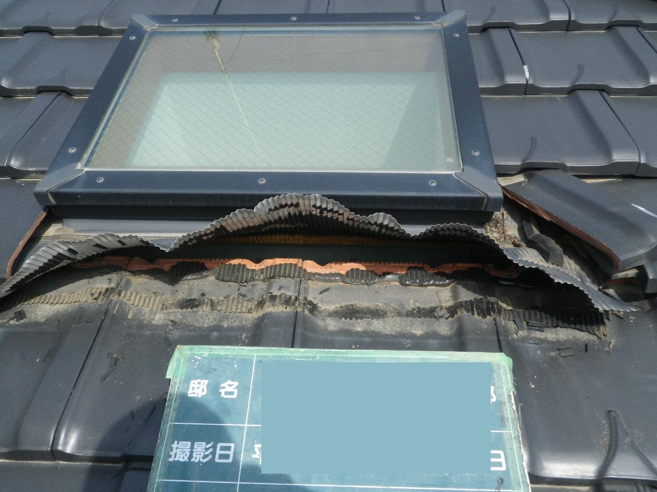 トップライト(天窓)廻りの雨漏れ修理 in那須塩原市