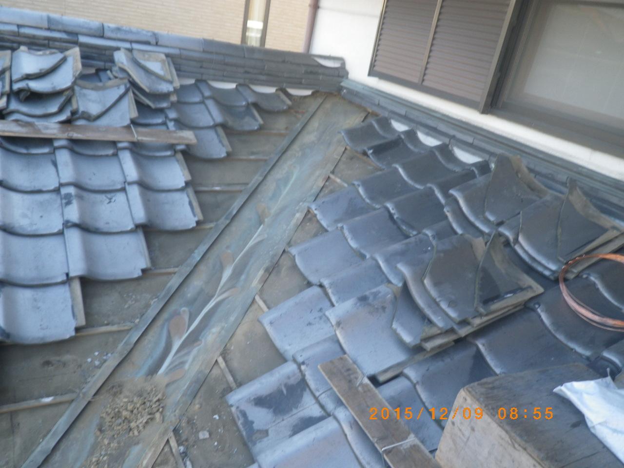谷板金修理工事を行います。in宇都宮市