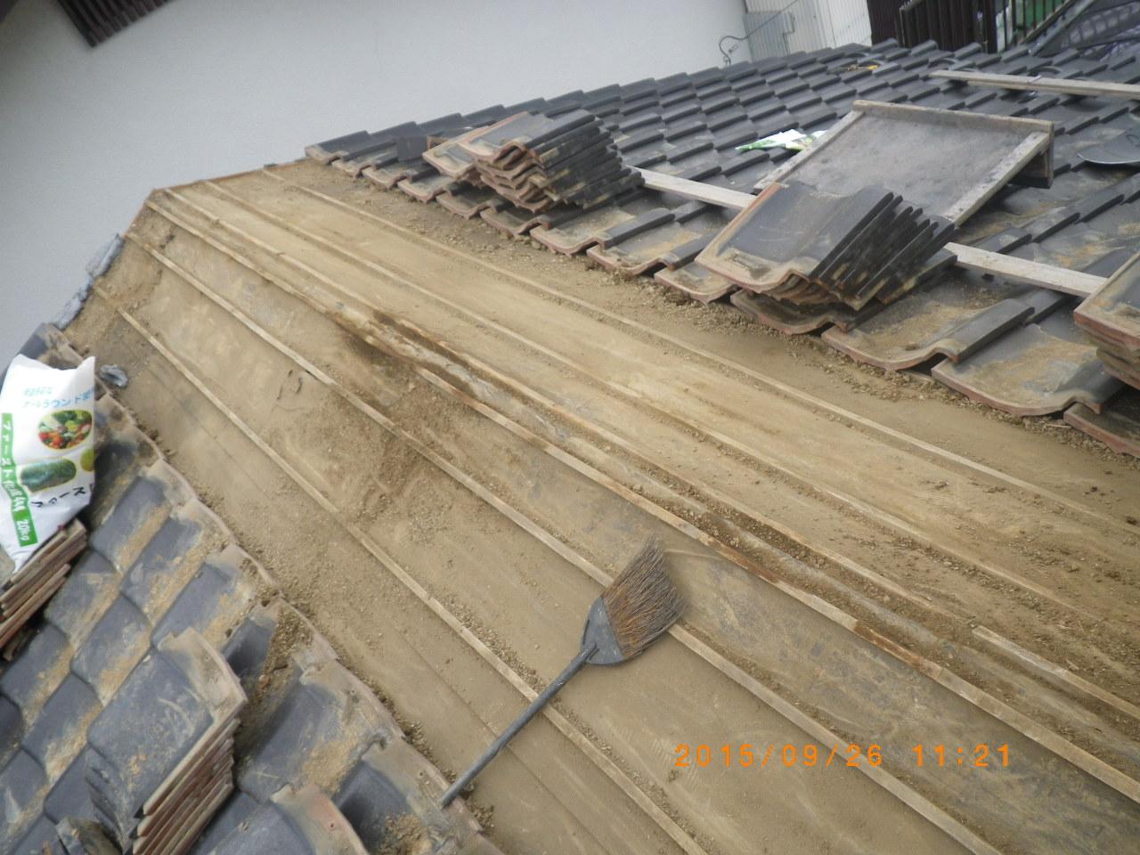 大棟の積直し工事を行います。in宇都宮市