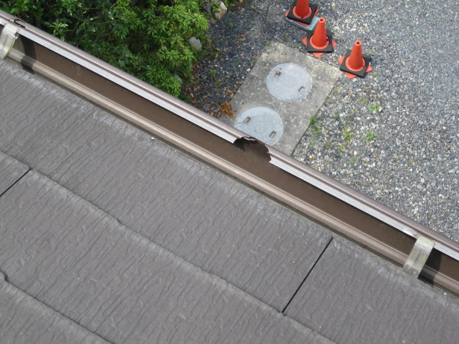 日光市で軒樋の交換工事を行いました