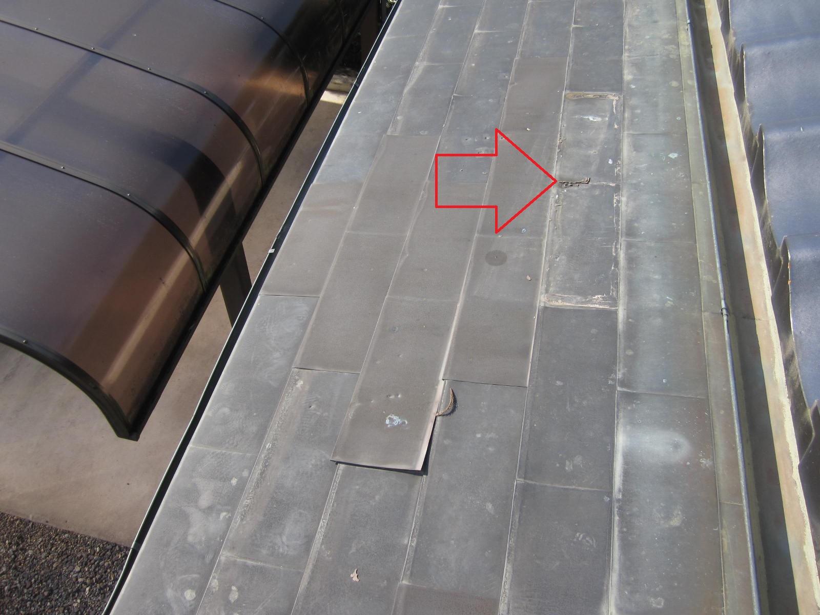 銅板一文字葺き屋根の補修工事! in那須烏山市