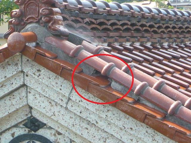 和瓦屋根の「風切り丸」を耐震工法にて積み直し! in那須塩原市