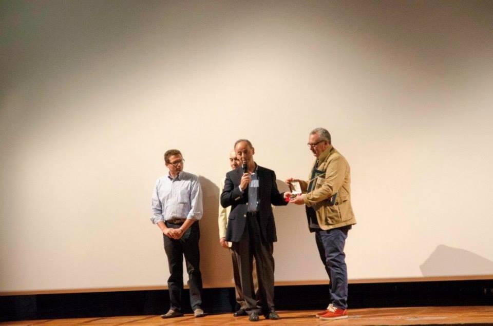 Il regista Mauro Vittorio Quattrina omaggiato dal Vice Presidente della Regione del Veneto Marino Zorzato