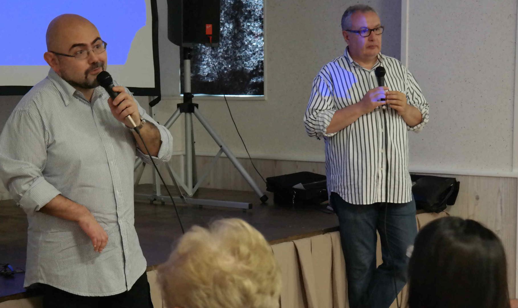 Presentazione da parte del regista Mauro Vittorio Quattrina e Paolo Pupillo traduttore