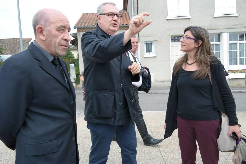 Il regista Mauro Vittorio Quattrina con Augustin Saliceti rappresentante della Corsica e della signora Italiana Clea Lusina e la signora Stefania Graziano rappresentante dell'Associazione Notre Italie