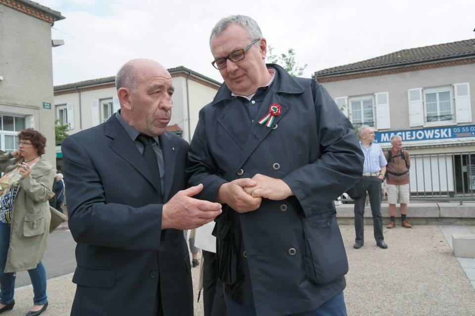Il regista Mauro Vittorio Quattrina con Augustin Saliceti rappresentante della Corsica e della signora Italiana Clea Lusina