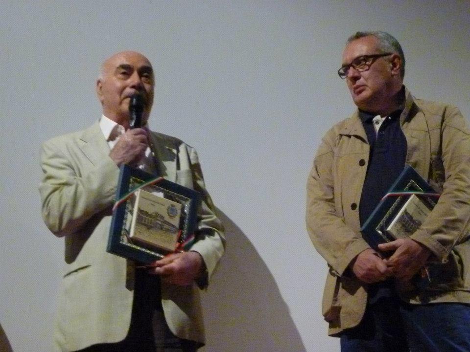 Aldo Cav Uff Zoccarato e il regista Mauro Vittorio Quattrina
