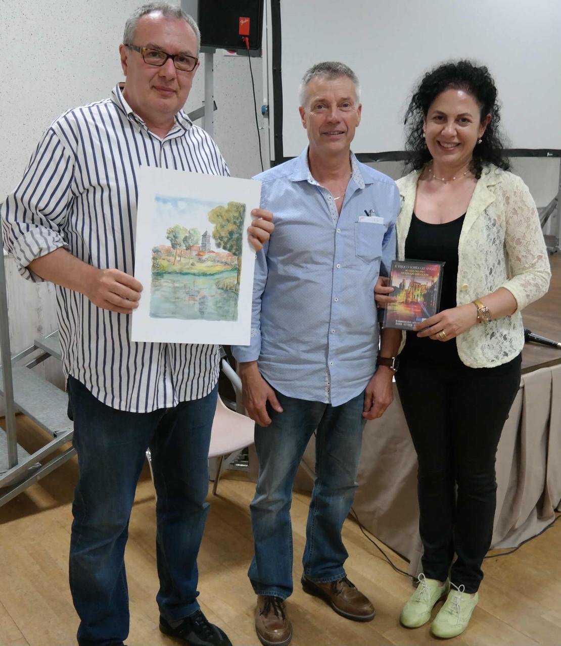 il Sindaco di Lesterps con Mauro Vittorio Quattrina e Grazia Pacella