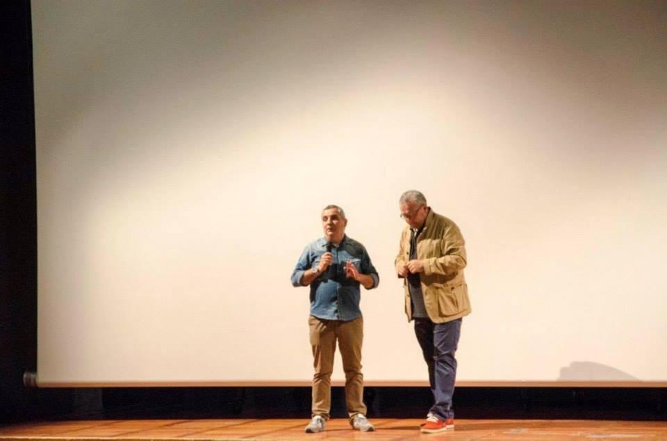 Il Vice Sindaco del Comune di San Giorgio delle Pertiche, Davide Scapin con il regista Mauro Vittorio Quattrina